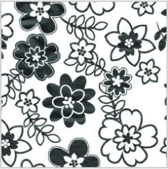 RETRO FLOWERS Tissue Paper