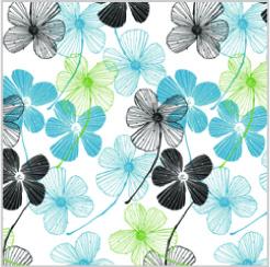 BLUE FLORAL Tissue Paper