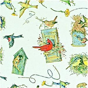 BIRD HOUSES Tissue Paper