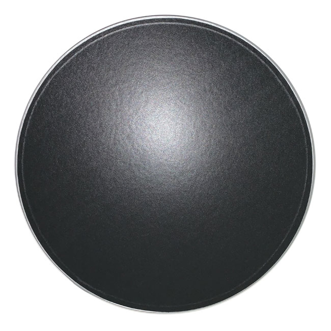 Black with Silver Trim Hat Box Lid