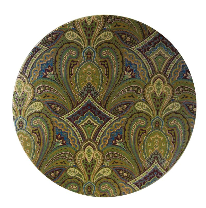 Golden Paisley Hat Box Lid