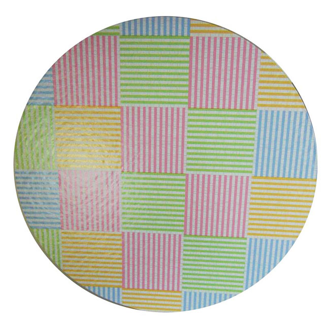 nested hat box lid showing madras plaid print pattern