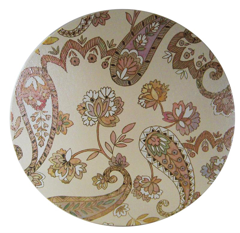 Multicolor Paisley Hat Box Lid