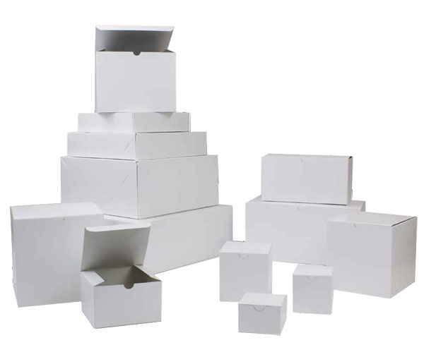 white folding gift boxes tuck-it single piece