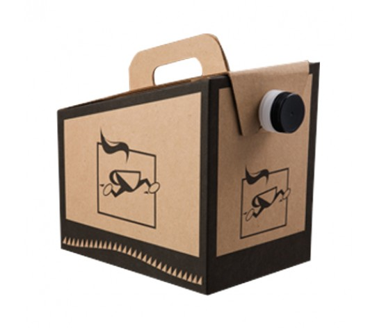 Brown Kraft Paper Coffee Carry-Out Container, 96 oz.
