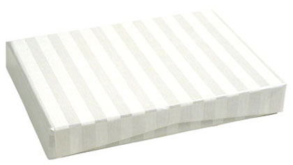 100% RECYCLED Presentation Box for Gift Cards - Pearl Stripes