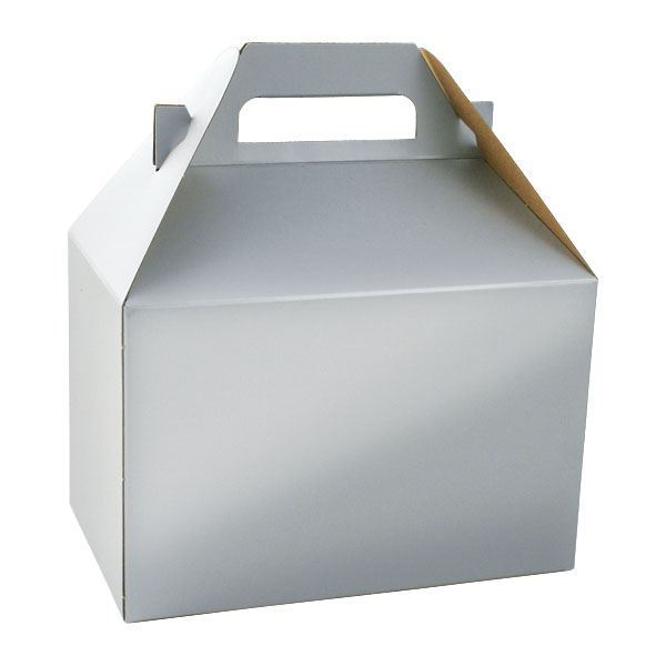 100% Recycled Gable Style Gifftware Box - Platinum Silver