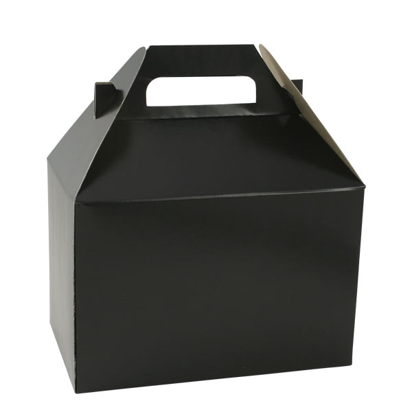 100% Recyceld Gable Style Giftware Box - Midnight Black
