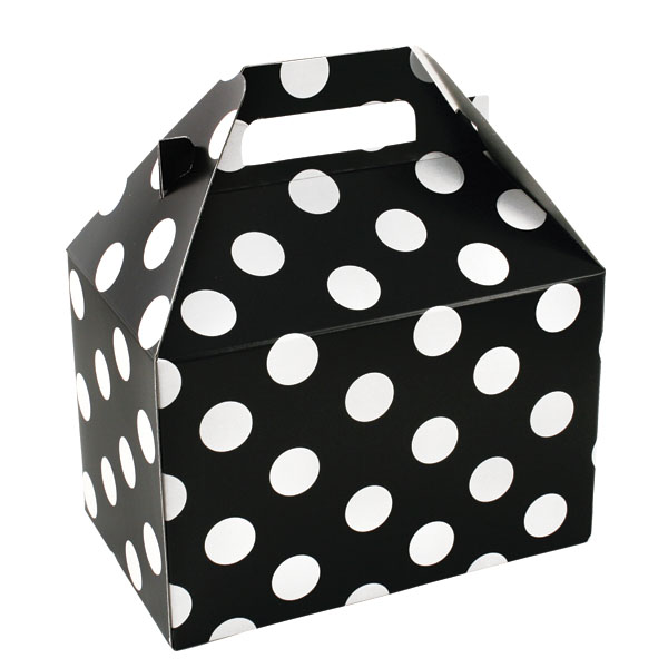 100% Recycled Gable Style Giftware Box - Domino Dots