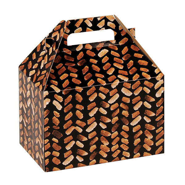 100% Recycled Gable Style Giftware Box - Basket Weave