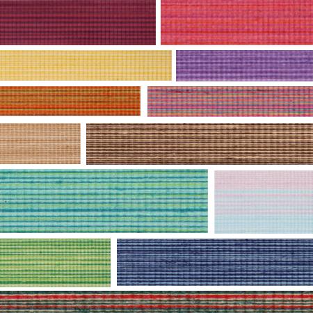100% Natural Cotton Chambray Ribbon - 12 Styles