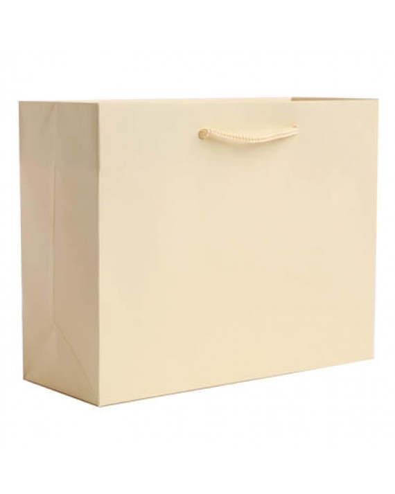 Textured Matte Laminated Vanilla Creme Euro Totes - Assorted Sizes