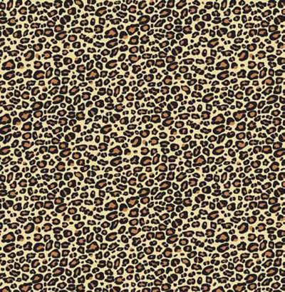 Leopard Patterned Natural Kraft Gift Wrap