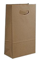 Die-cut Handelok Bag - 100% Recycled Natural Brown Kraft Paper