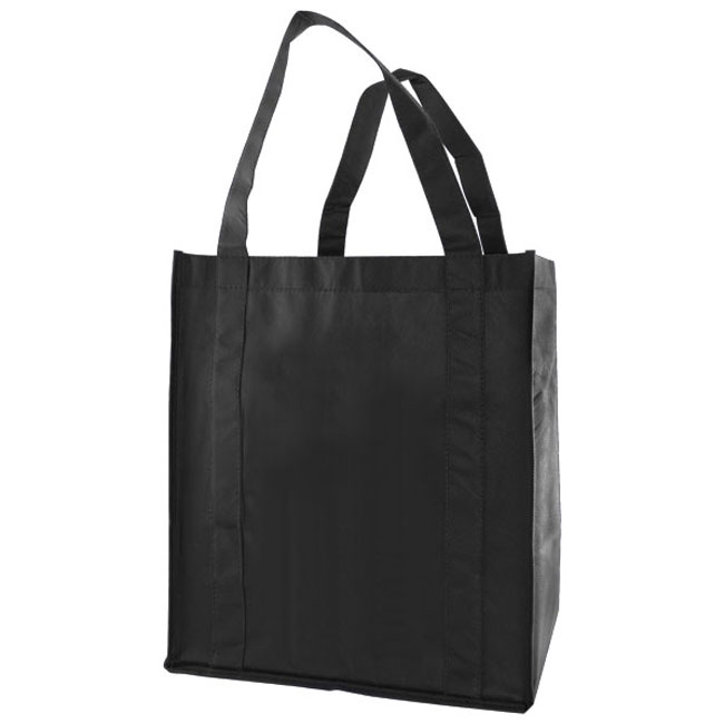 """Grocery Tote, Black, 12"""" x 8"""" x 13"""", 20"""" Handle"""