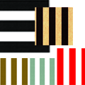 Grand Stripes Tissue Paper - 5 striped patterns to choose from