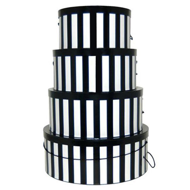 Black & White Stripes - 4 Box Nest