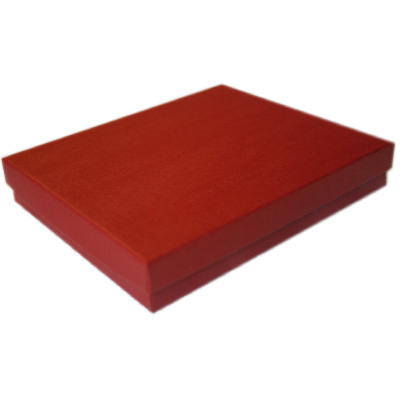 2-Piece Jewelry Boxes, Padded - Brick red