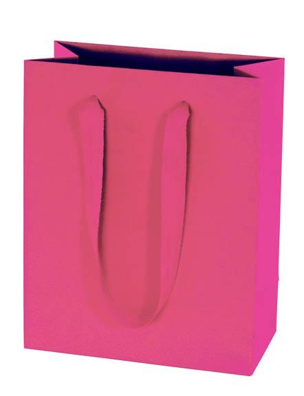 30% Recycled Euro Tote - Kraft Paper Shopping Bag - Fuchsia
