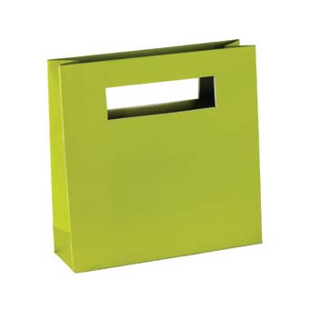 30% Recycled 'MOD' Paper Shopping Bag - Green
