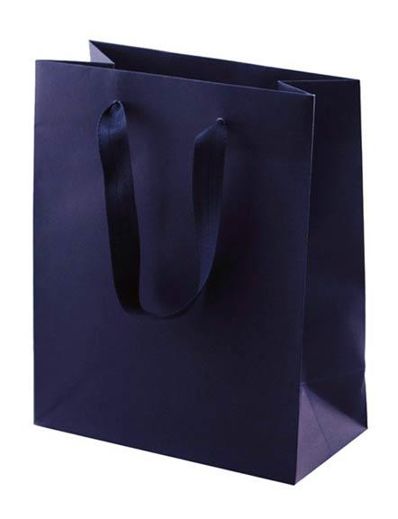 80% Recycled Euro Tote - Kraft Paper Shopping Bag - Navy Blue