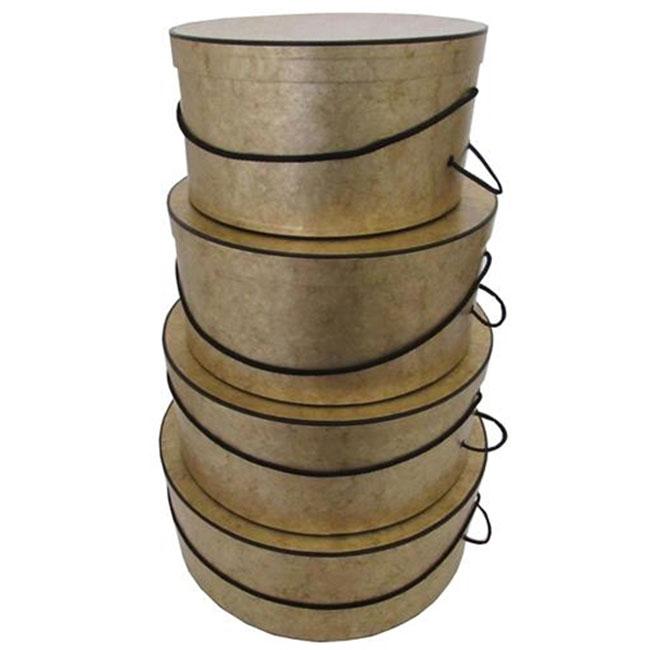 Gold Marble Pattern - 4 Box Nest