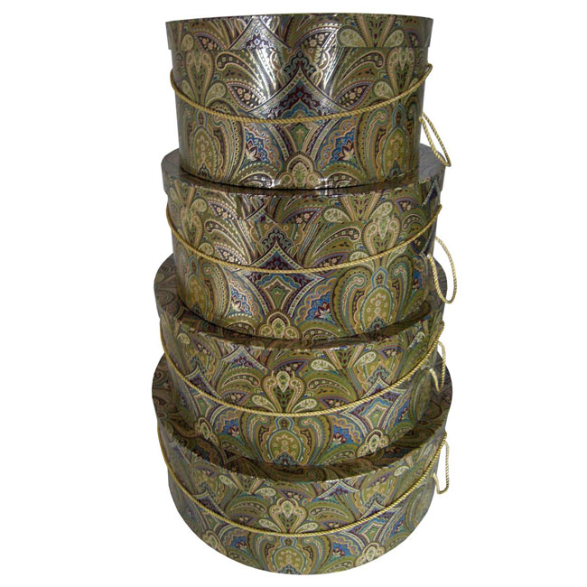 Gold Paisley Pattern - 4 Box Nest