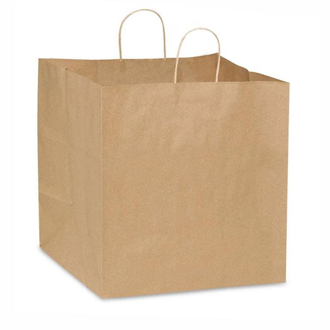 "Natural Kraft, Twisted Paper Handles - 10"" W x 10"" G x 10"" H"