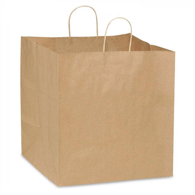"Natural Kraft, Twisted Paper Handles - 12"" W x 10"" G x 12"" H"