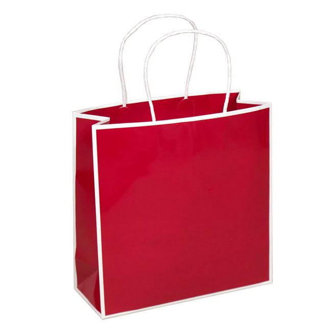 "Red with White Trim, 10"" W x 4"" G x 10"" H"