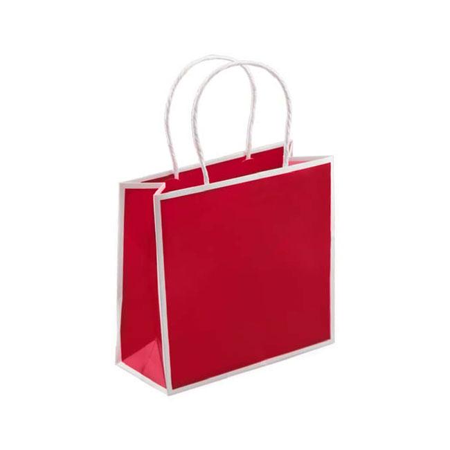 "Red with White Trim, 7"" W x 3"" G x 7"" H"