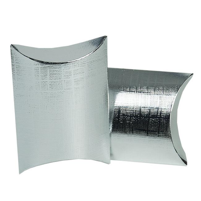 Metallic Silver Linen Embossed