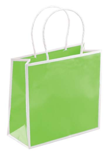 Sophie Shoppers - Citrus Green With White Trim