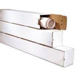 Square Mailer Tubes - Corrugated EZ Tuck
