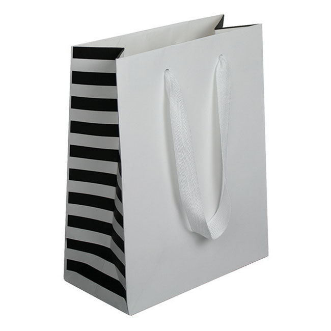 White Stripes, Natural Finish, Cotton Twill Handles - Assorted Sizes