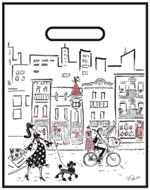 Bio-Plastic Merchandise Bag - Skyline, Shopper and Black Poodle