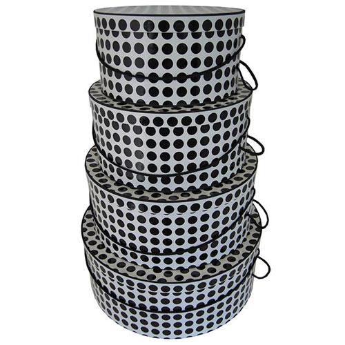 Black & White Polka Dots - 4 Box Nest