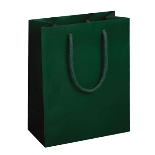 Dark Green, Matte Laminated, Cotton Cord Handles - Assorted Sizes